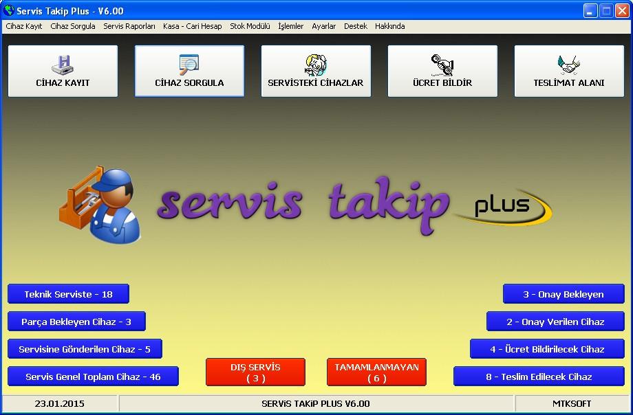 teknik servis müşteri takip programı
